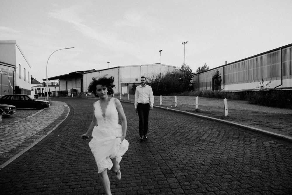 YANA & MARCEL, Industrial wedding Shoot, Hamburg, Germany
