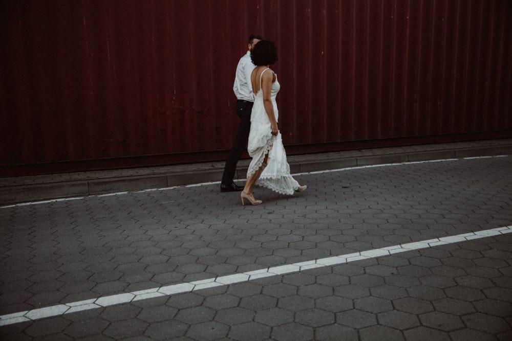 YANA & MARCEL, Industrial wedding Shoot, Hamburg, Germany